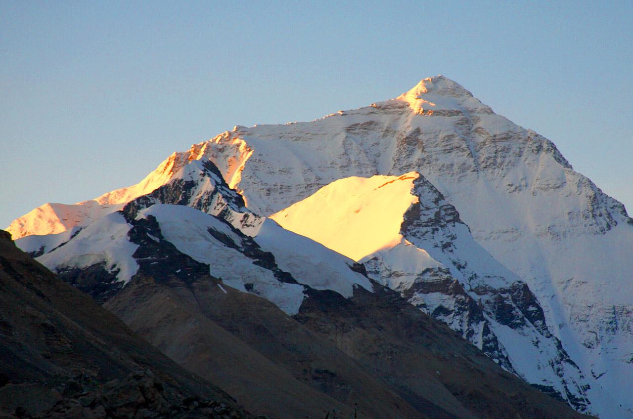 Trek et couchés de soleil sur le mont Everest
