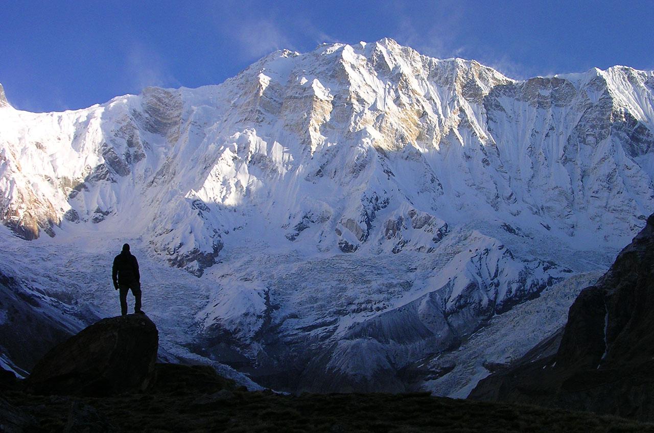 Trek Népal - Vue sur l'Annapurna face sud