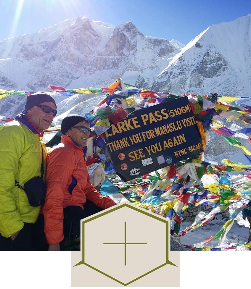 Larkya peak et Manaslu