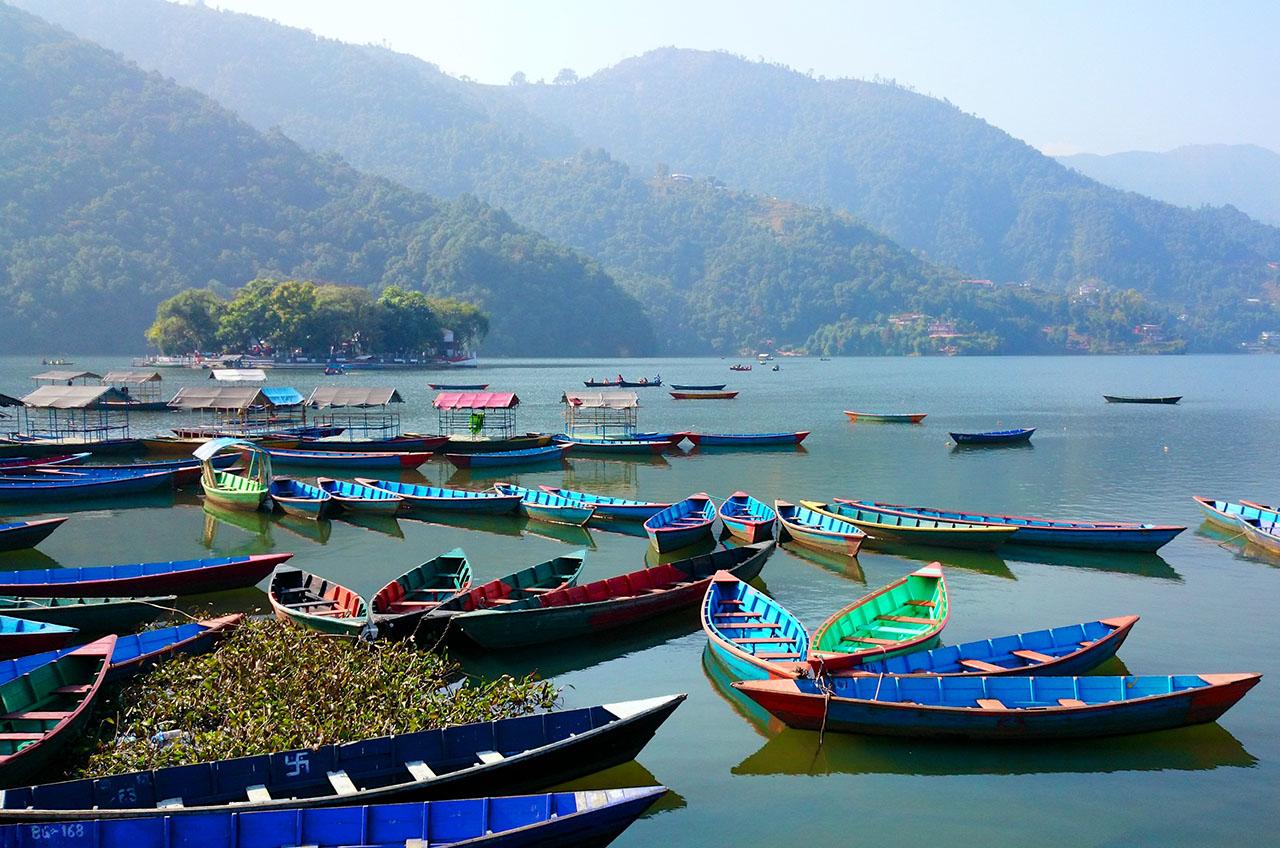 lac Phewa à Pokhara