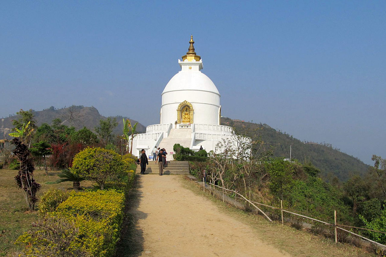 stupa Pokhara guide népal