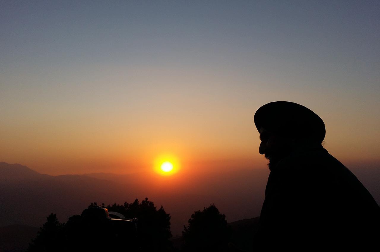 Nagarkot lever de soleil