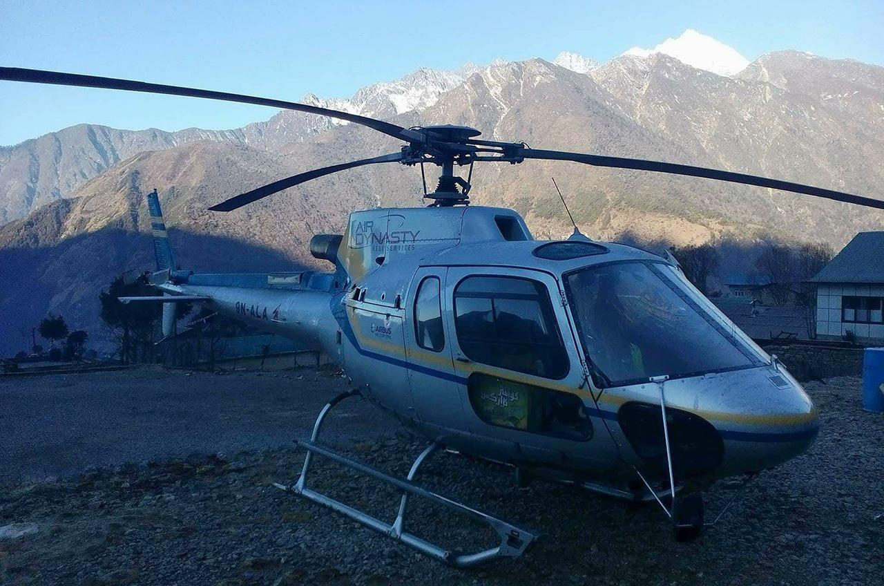 hélicoptère tour Everest