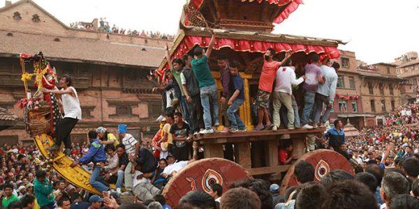 Bisket Jatra à Bhaktapur