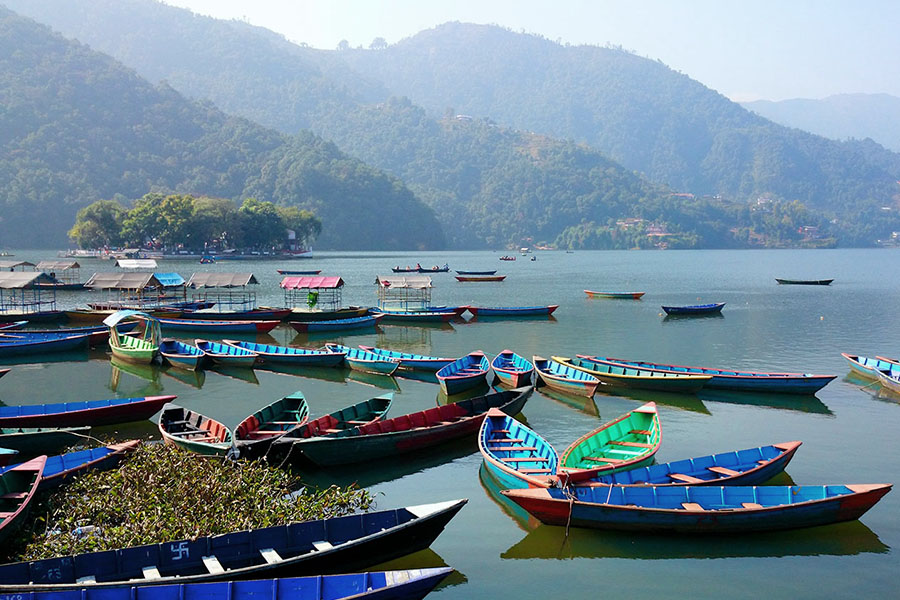 Lac Fewa à Pokhara