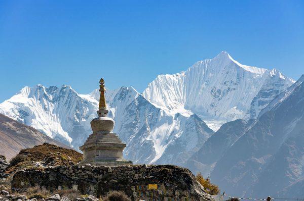 Stupa kyanjin - Vallée du Langtang